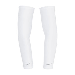 Nike Lightweight Dry UV Running Sleeves White / Silver - achilles heel