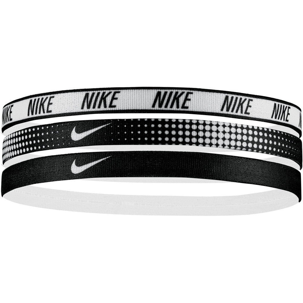 Nike Printed Headbands White & Black