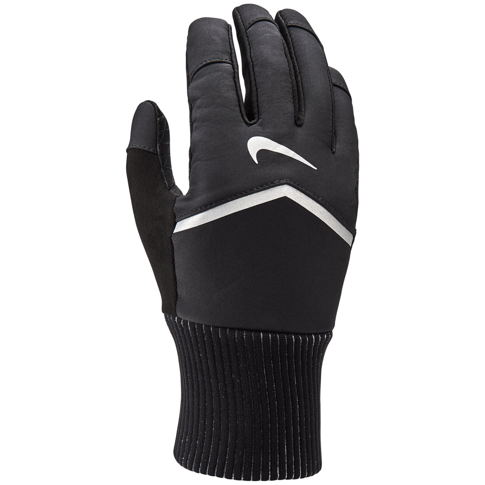 Nike Women's Shield Run Gloves Black & Silver - achilles heel