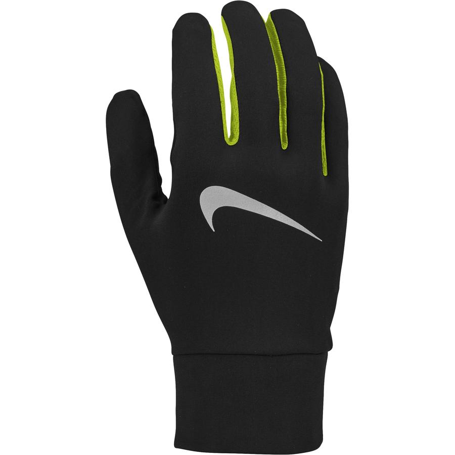Nike Men's Dry Lightweight Run Gloves Black / Volt