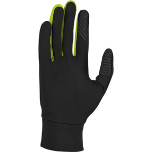 Nike Men's Dry Lightweight Run Gloves Black / Volt - achilles heel