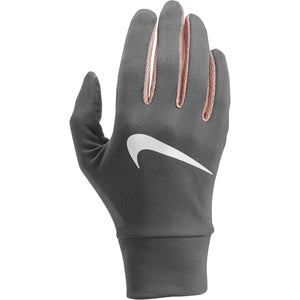 Nike Women's Dry Lightweight Run Gloves Gunsmoke & Pink HO18