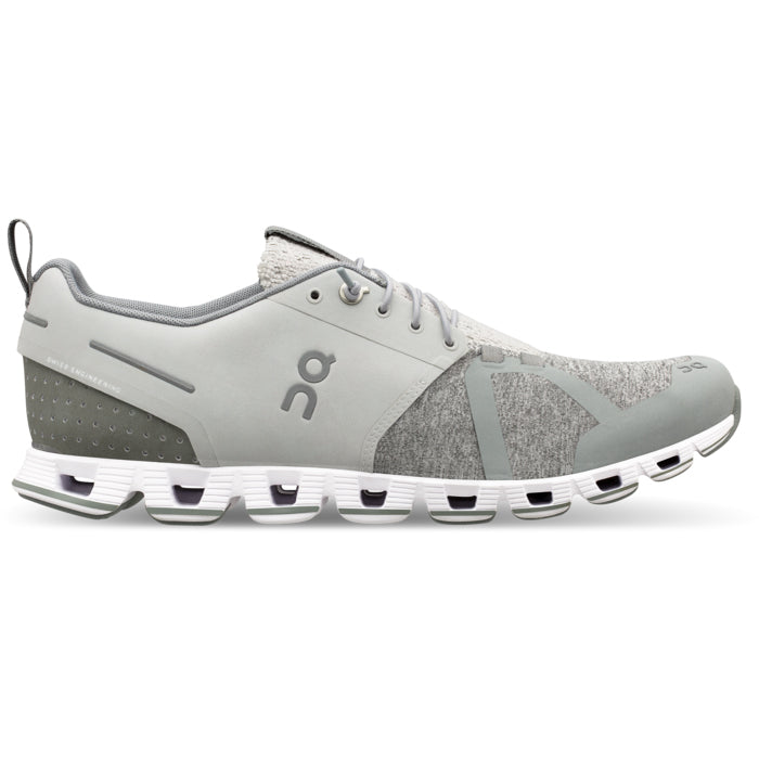 On Women's Cloud Terry Running Shoes Silver - achilles heel