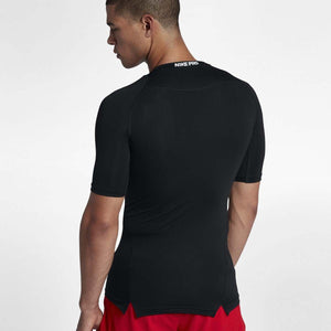 Nike Men's Pro Training Tee Black & White FA18 010
