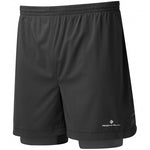 Ronhill Men's Stride Twin 5 Inch Short Black - achilles heel