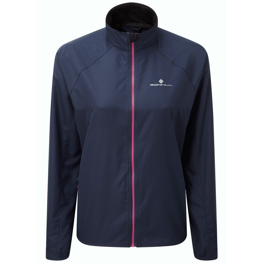 Ronhill Women's Everyday Jacket Deep Navy & Azalea AW18 - achilles heel