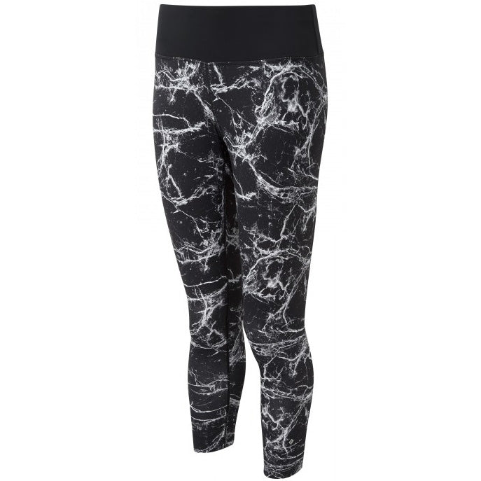 Ronhill Women's Momentum Crop Tight Black Marble