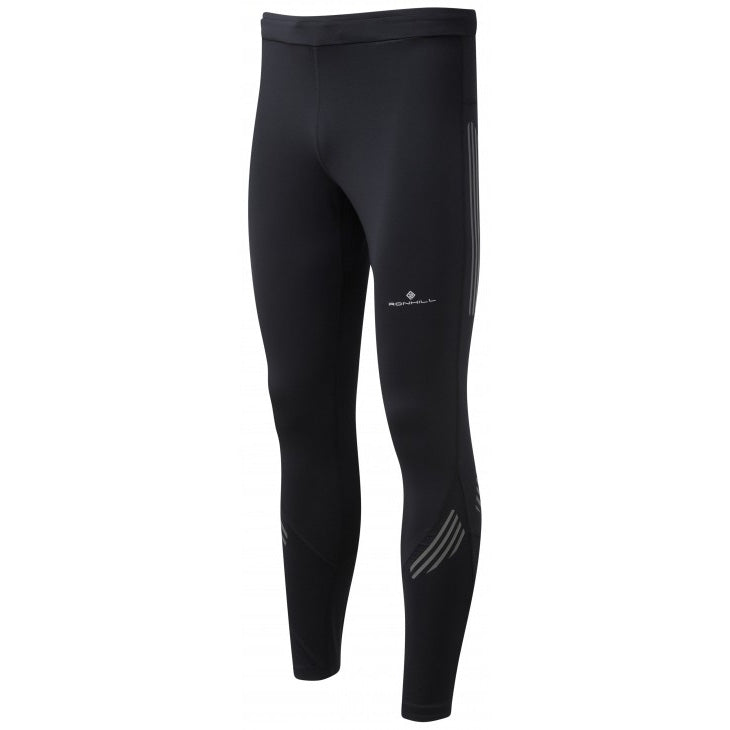 Ronhill Men's Infinity Nightfall Tight Black / Reflect - achilles heel
