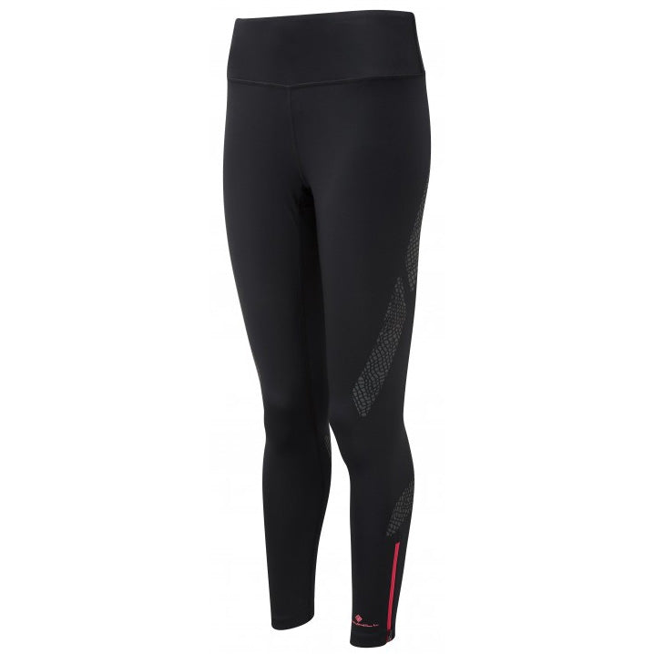 Ronhill Women's Infinity Nightfall Tight Black /  Azalea - achilles heel