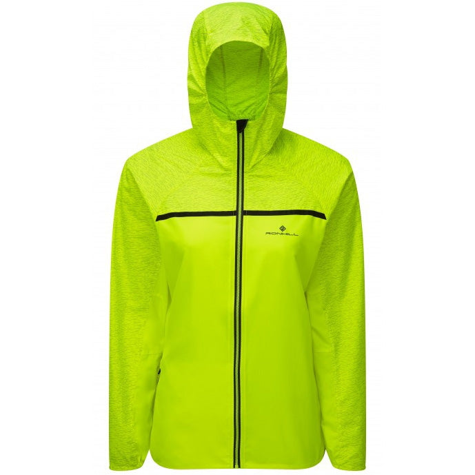 Ronhill Women's Momentum Afterlight Jacket Fluo Yellow & Charcoal AW18 - achilles heel