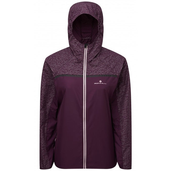 Ronhill Women's Momentum Afterlight Jacket Aubergine & Blossom AW18