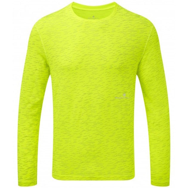 Ronhill Men's Momentum Afterlight Top Fluo Yellow AW18