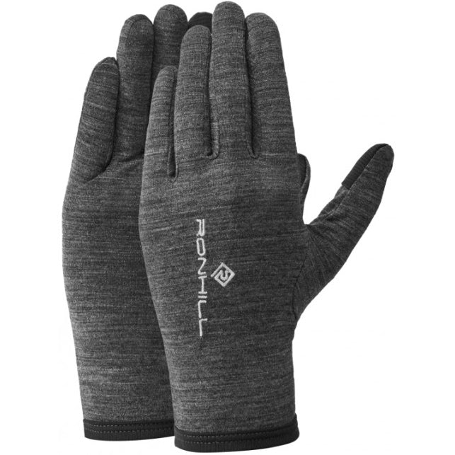 Ronhill Merino Gloves Grey Marl / Black