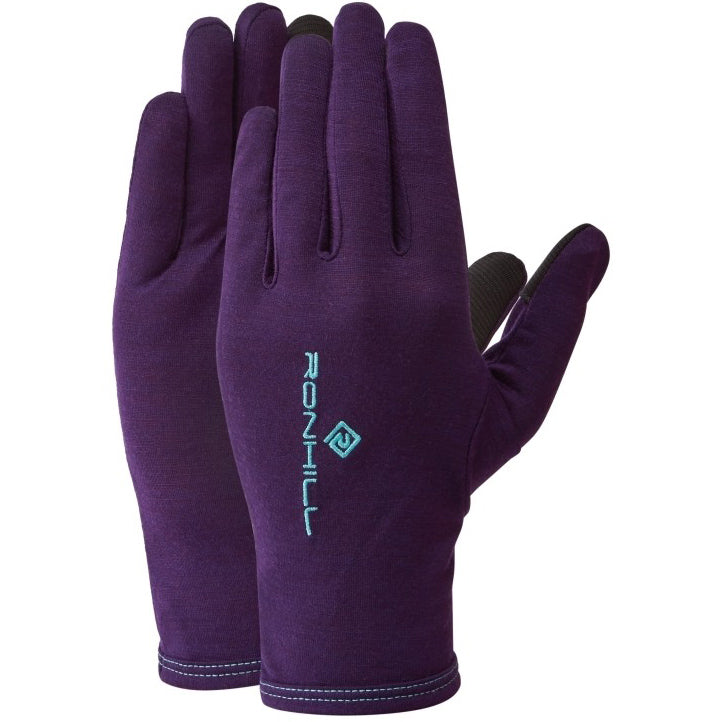 Ronhill Merino Gloves Blackberry / Aquamint