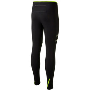 Ronhill Men's Stride Winter Tight Black / Fluo Yellow - achilles heel