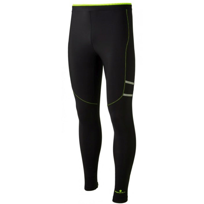 Ronhill Men's Stride Winter Tight Black / Fluo Yellow