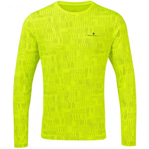 Ronhill Men's Momentum Afterlight Top Fluo Yellow - achilles heel