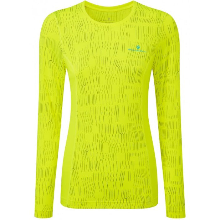 Ronhill Women's Momentum Afterlight Top Fluo Yellow