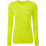 Ronhill Women's Momentum Afterlight Top Fluo Yellow - achilles heel