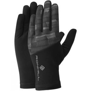 Ronhill Afterlight Gloves Black / Reflect - achilles heel
