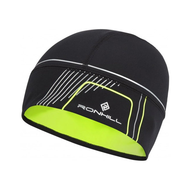 Ronhill Run Beanie Black & Fluro
