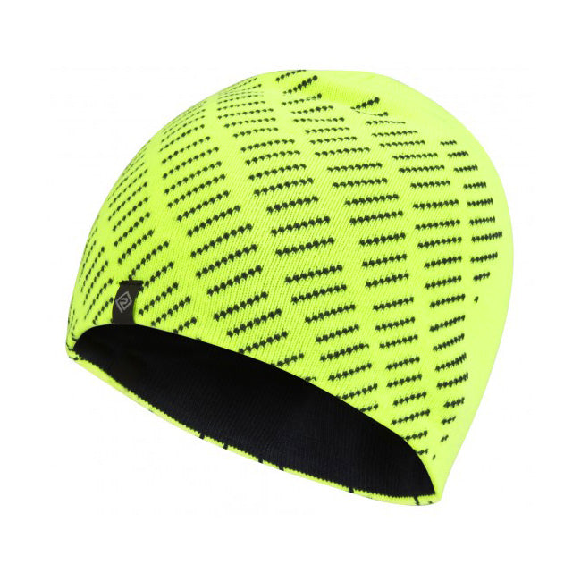Ronhill Run Classic Beanie Fluo Yellow & Charcoal