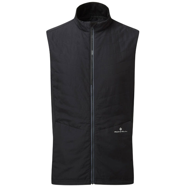 Ronhill Men's Stride Winter Gilet Black & Charcoal AW18