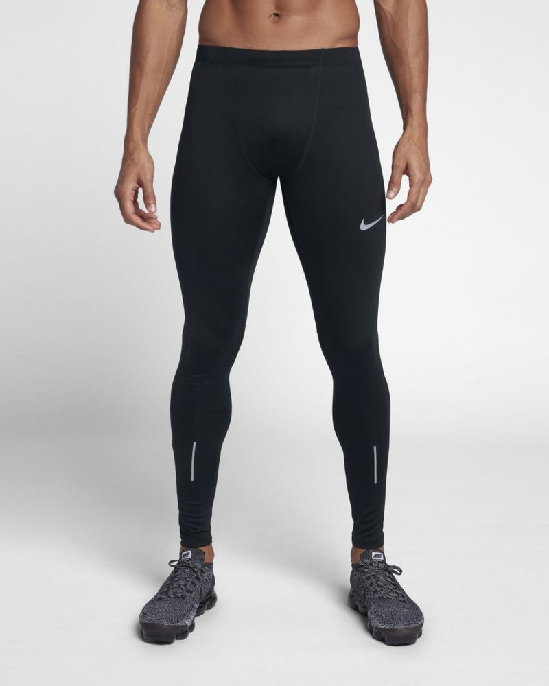 Nike Men's Power Run Tight Black - achilles heel
