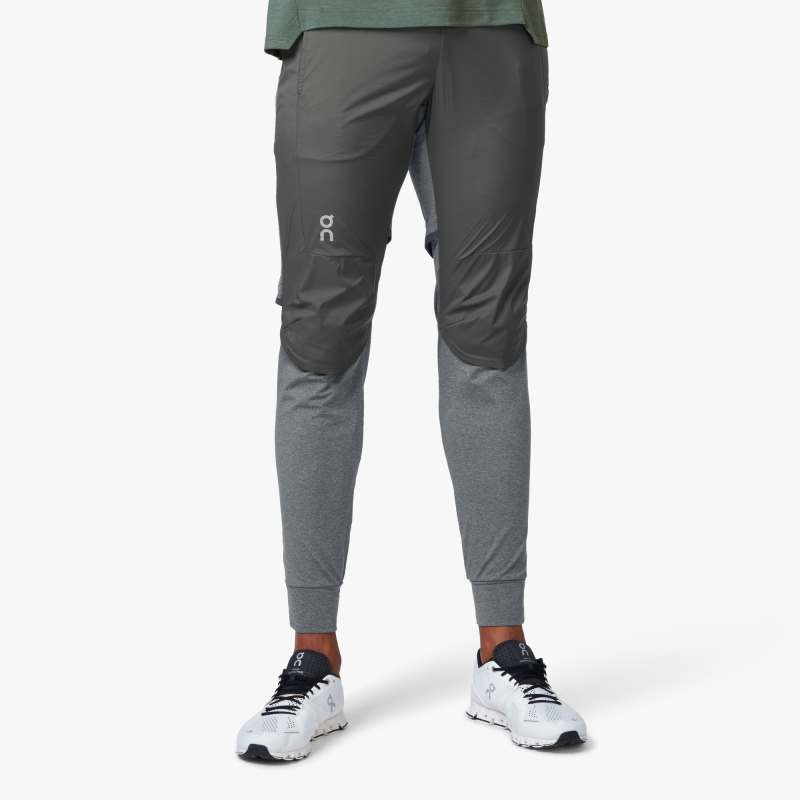 On Men's Running Pant Black /  Shadow - achilles heel