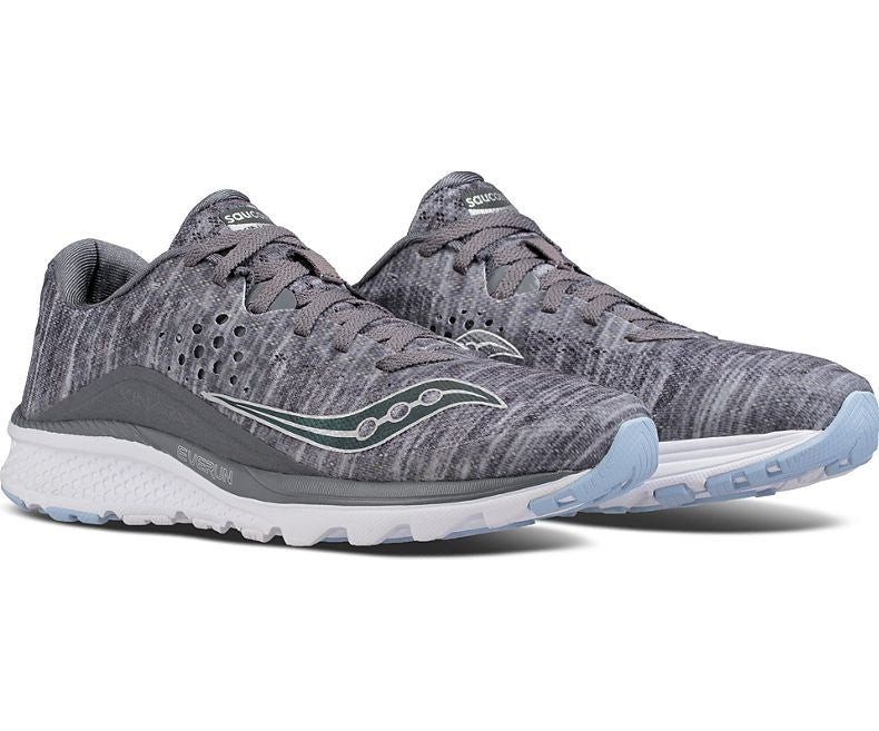 Saucony Women's Kinvara 8 Running Shoes Grey - achilles heel