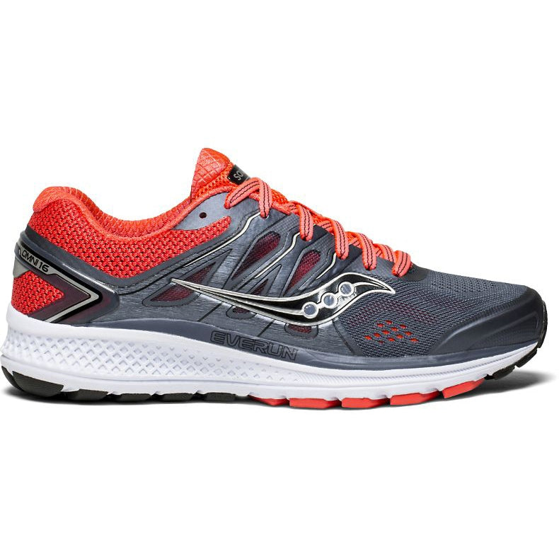 Saucony Women's Omni 16 Running Shoes Grey / Viz Red / Black