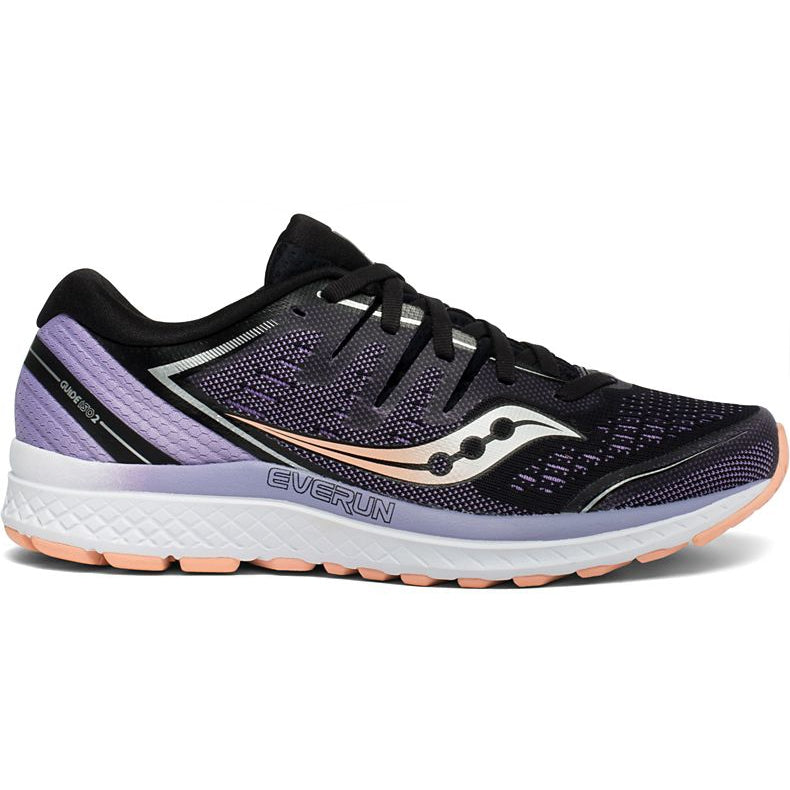 Saucony Women's Guide ISO 2 Running Shoes Black & Purple AW19