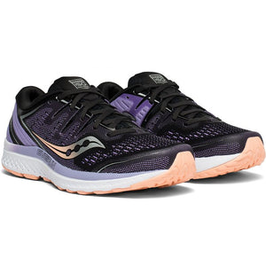 Saucony Women's Guide ISO 2 Running Shoes Black /  Purple - achilles heel