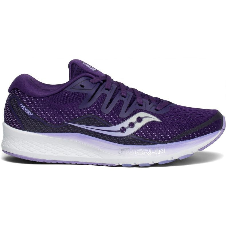 Saucony Women's Ride ISO 2 Running Shoes Purple AW19