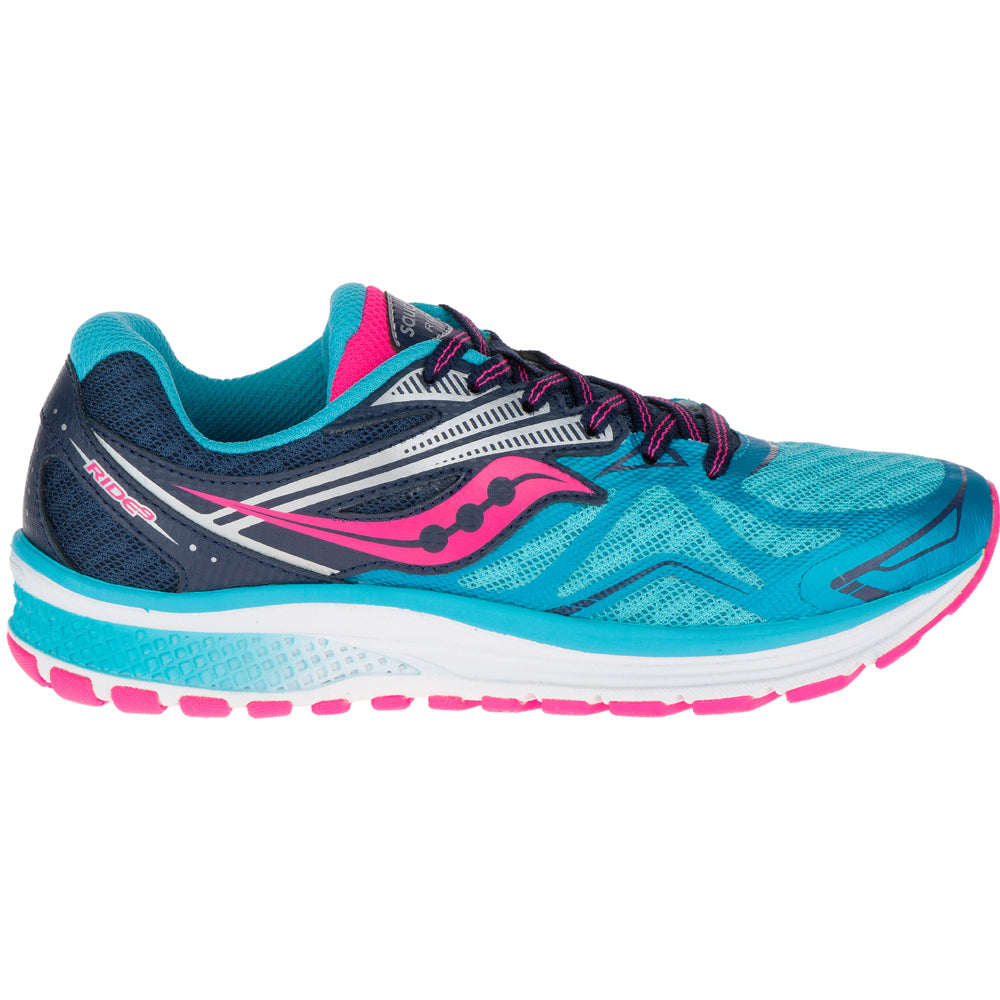 Saucony Girls Ride 9 Running Shoes - achilles heel