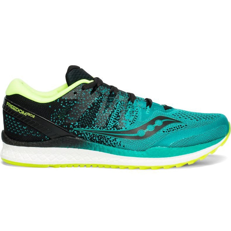 Saucony Men's Freedom 2 ISO Running Shoes Teal / Black - achilles heel