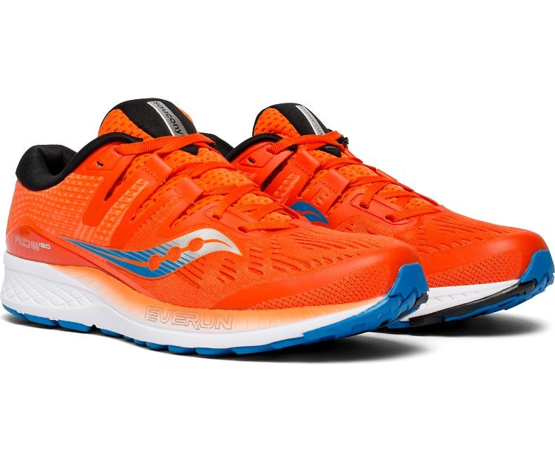 Saucony Men's Ride ISO Running Shoes Orange SS19