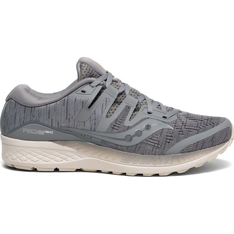 Saucony Men's Ride ISO Running Shoes Grey /Shadow