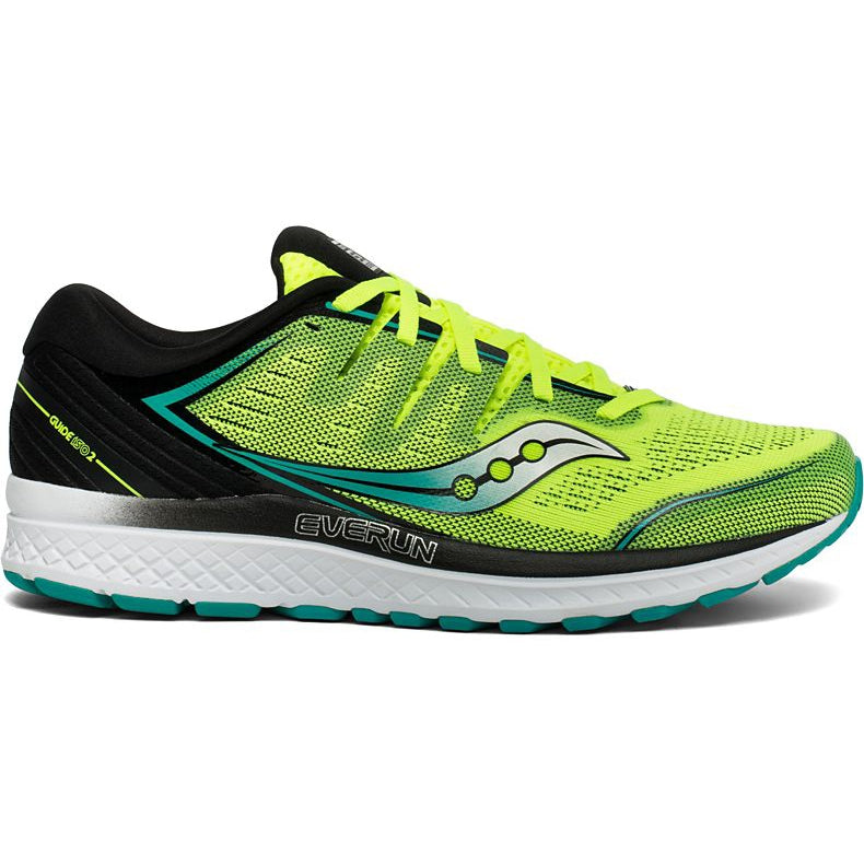 Saucony Men's Guide ISO 2 Running Shoes Citron & Teal AW19
