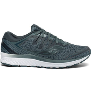 Saucony Men's Guide ISO 2 Running Shoes Steel / Quake - achilles heel