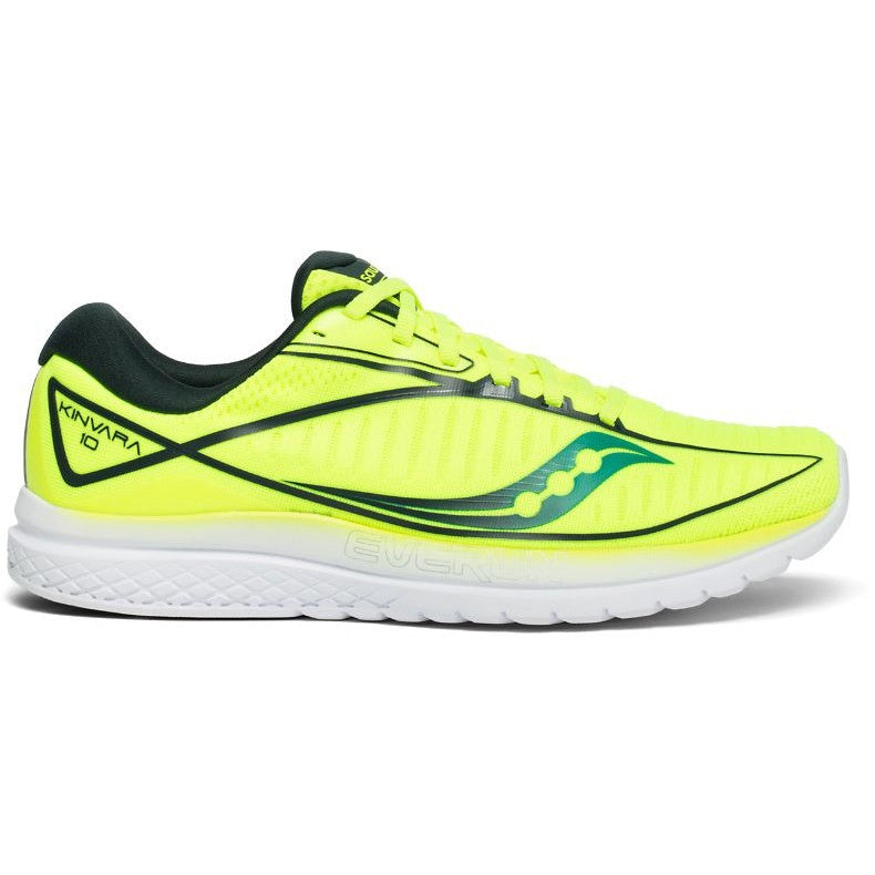 Saucony Men's Kinvara 10 Running Shoes Citron / Teal - achilles heel