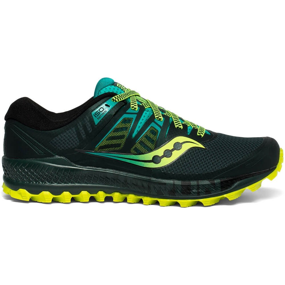 Saucony Men's Peregrine ISO Trail Running Shoes Green / Teal