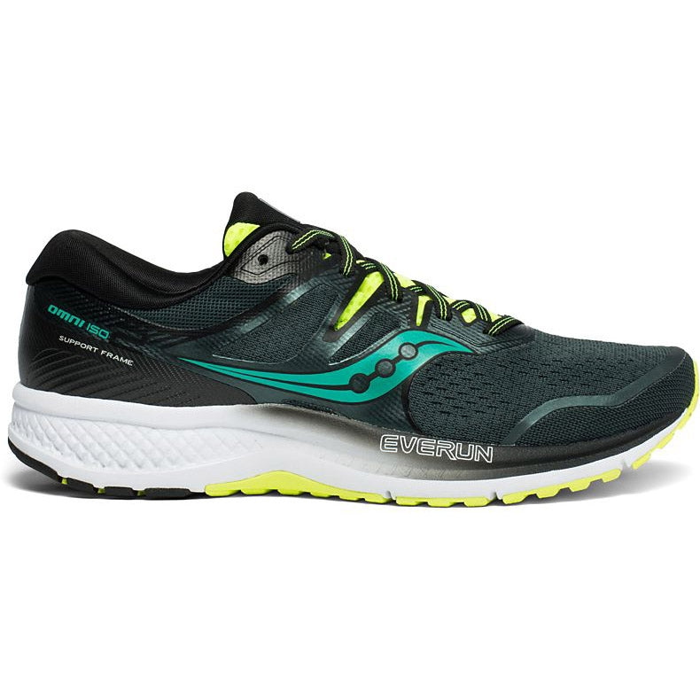 Saucony Men's Omni ISO 2 Running Shoes Green / Teal - achilles heel