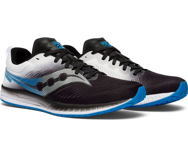 Saucony Men's Fastwitch 9 Running Shoes Black / White - achilles heel