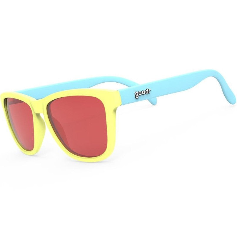 Goodr Pineapple Painkillers Running Sunglasses - achilles heel