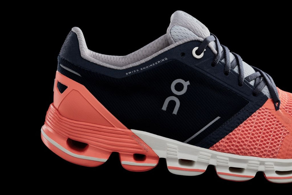 On Women's CloudFlyer Running Shoes Salmon & Ink SS19