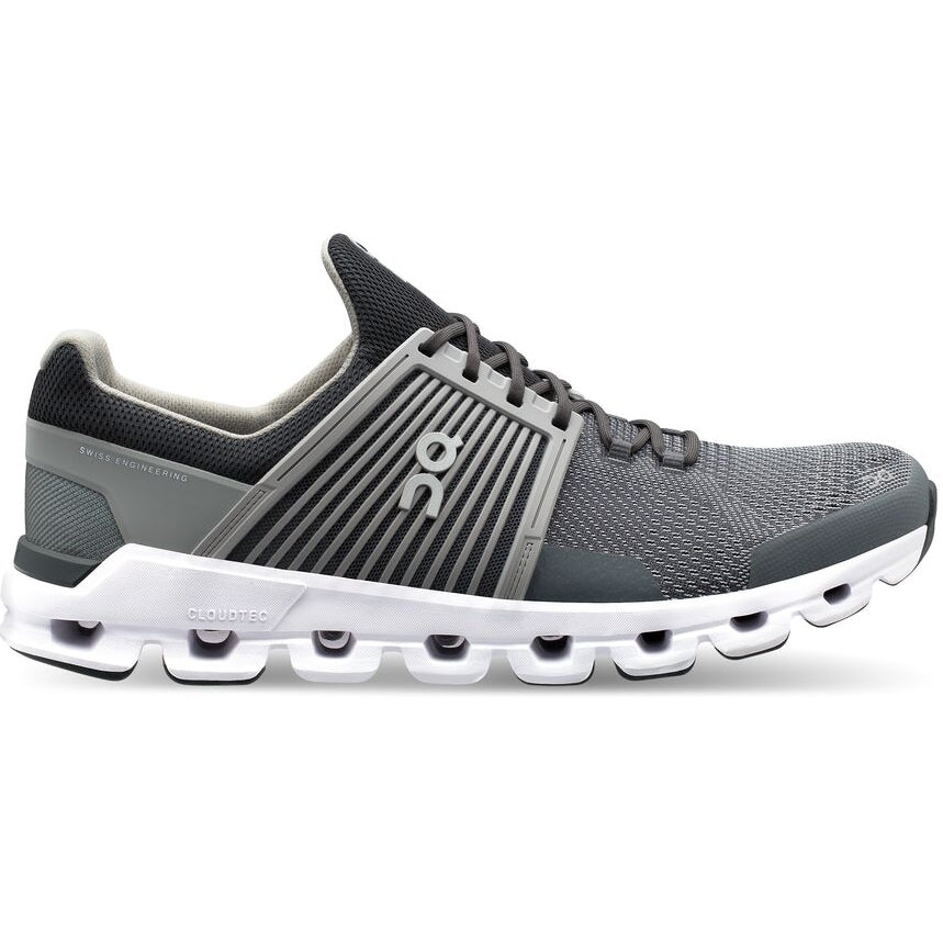 On Men's CloudSwift Running Shoes Rock /  Slate - achilles heel