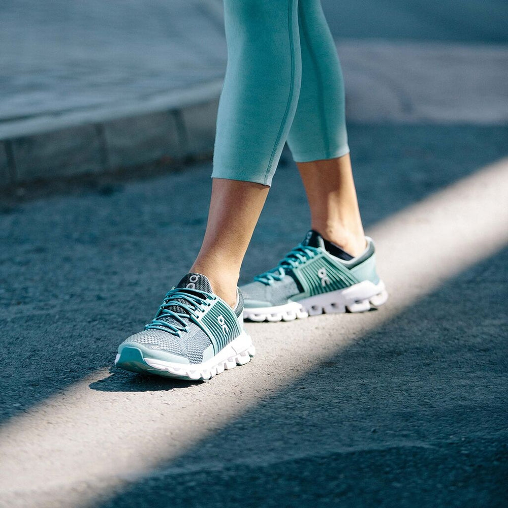 On Women's Cloudswift Running Shoes Teal & Storm SS19