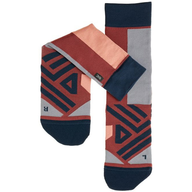 On Women's High Sock Ox / Navy - achilles heel