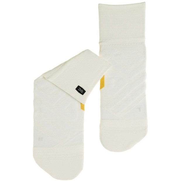 On Women's Mid Sock White / Ice - achilles heel